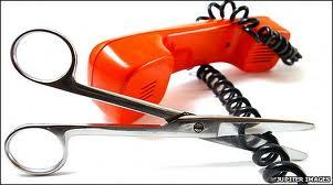 Cut landline