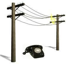 landline poles